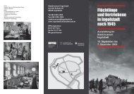 Flyer Flüchtlinge und Vertriebene in Ingolstadt nach 1945