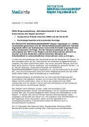 091127 IRMA_Ringveranstaltung - IngolstadtLandPlus
