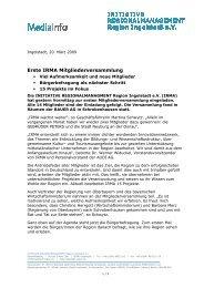IRMA Mitgliederversammlung - IngolstadtLandPlus