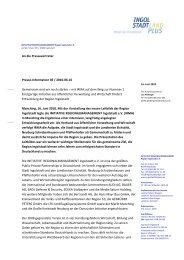 An die Pressevertreter Presse- - IngolstadtLandPlus