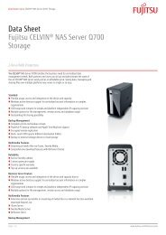 Data Sheet Fujitsu CELVIN® NAS Server Q700 Storage