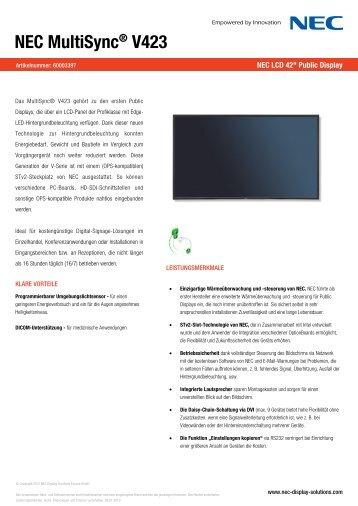 NEC MultiSync® V423 - Mercateo