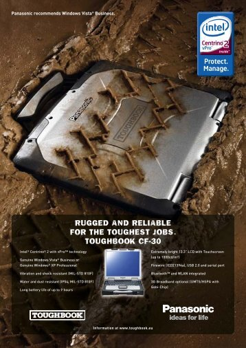 rugged and reliable for the toughest jobs. toughbook cf-30