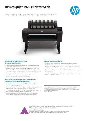 HP Designjet T920 ePrinter Serie - Ingram Micro