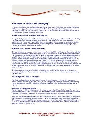 Homøopati er effektivt ved fibromyalgi - ingrid wawra