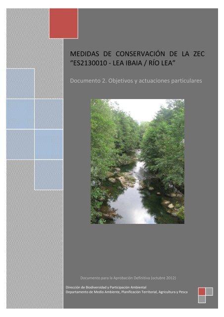 """medidas de conservación de la zec """"es2130010 - lea ibaia / río lea"""""""