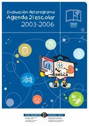 Evaluación del programa Agenda 21 Escolar (2003-06) - Euskadi.net