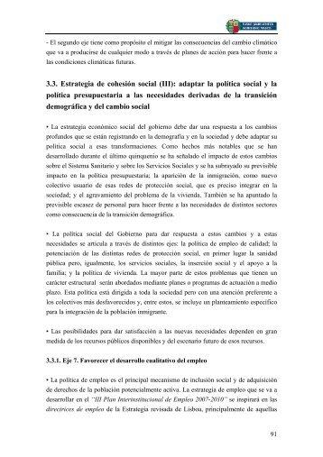 3.3. Estrategia de cohesión social (III): adaptar la política ... - Izenpe