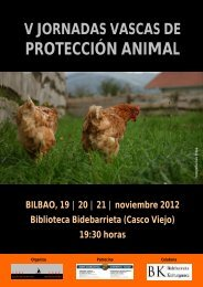 Programa de las V Jornadas Vascas de Protección Animal