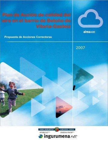 Propuesta de acciones correctoras (pdf, 1,26 Mb)