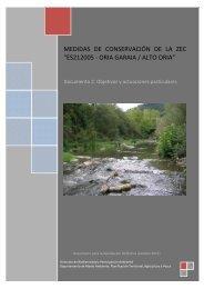 """medidas de conservación de la zec """"es212005 - oria garaia / alto oria"""""""
