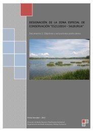 """designación de la zona especial de conservación """"es2110014 ..."""