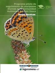 Programa piloto de seguimiento de mariposas diurnas en la ...