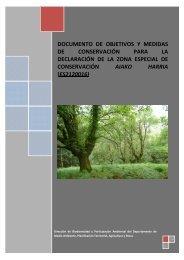 2013. documento de objetivos y medidas de conservación para la ...