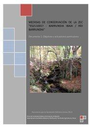 Río Barrundia. Documento 2. Objetivos y actuaciones ... - Euskadi.net