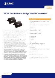 WDM Fast Ethernet Bridge Media Converters