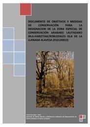 Documento de objetivos y medidas de conservación. 1er borrador ...