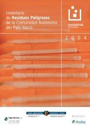 Anexo III. Inventario de residuos peligrosos de la CAPV 2004
