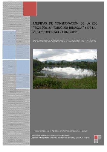 Documento 2. Objetivos y actuaciones particulares ... - Euskadi.net