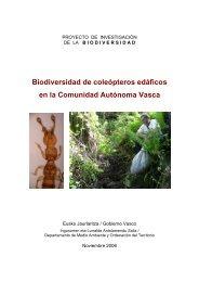 Biodiversidad de coleópteros edáficos en la Comunidad Autónoma ...