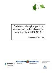 Guía metodológica para la realización de los planes de seguimiento