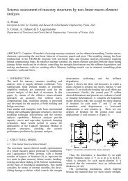 Seismic assessment of masonry structures by non-linear macro ...