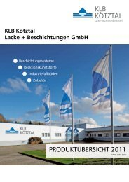 KLB Produktübersicht 2011 - inhema