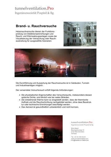 Brandversuche und Rauchtests
