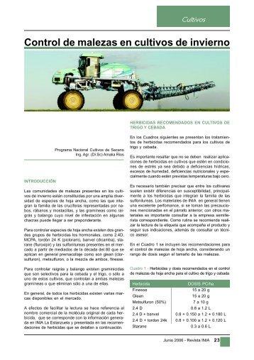 Control de malezas en cultivos de invierno - Inia