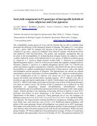 Seed yield components in F2 genotypes of interspecific ... - Inia