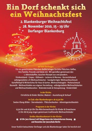 Ein Dorf schenkt sich ein Weihnachtsfest - initiative - blankenburg