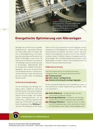 Energetische Optimierung von Kläranlagen - Initiative CO2
