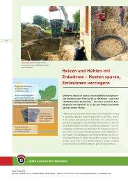 Heizen und Kühlen mit Erdwärme – Kosten sparen ... - Initiative CO2