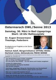 Ostermarsch OWL/Senne 2013 - SDAJ-OWL