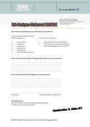 Anmeldebogen Zn D 2011 - Initiative Zink