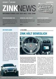 ZINK HäLT BEWEGLIcH - Initiative Zink