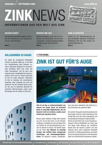 ZInK IST GUT füR'S AUGE - Initiative Zink