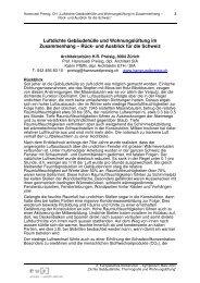Rück- und Ausblick für die Schweiz - inive