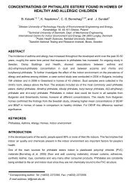 CONCENTRATIONS OF PHTHALATE ESTERS' FOUND IN ... - inive