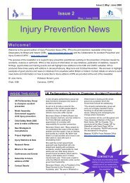 Injury Prevention News - Injury Observatory for Britain and Ireland