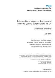 Interventions to prevent accidental injury to young people aged 15 ...