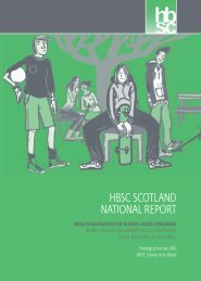 hbsc scotland national report - Injury Observatory for Britain and ...