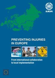 Preventing injuries in Europe - World Health Organization Regional ...