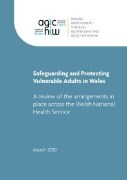 Safeguarding and Protecting Vulnerable Adults in Wales A review of ...