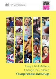 Every Child Matters: Change for Children Young People and Drugs