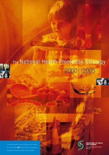 National Health Promotion Strategy - Injury Observatory for Britain ...