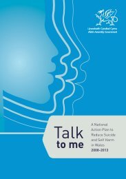 A National Action Plan to Reduce Suicide and Self ... - Health in Wales