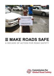 A Decade of Action for Road Safety - Make Roads Safe