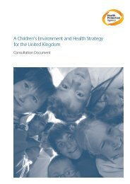 A Children's Environment and Health Strategy for the United ...