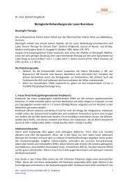 Biologische Behandlungen der Lyme-Borreliose: - INK